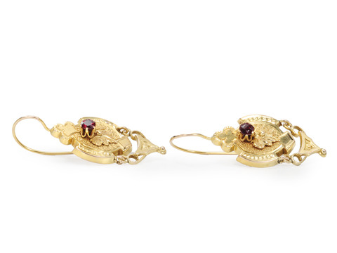 Classic Victorian Garnet Earrings