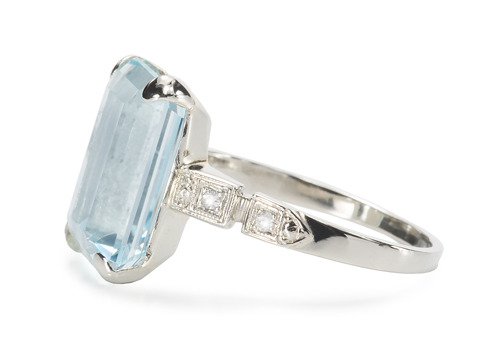 Aquamarine Dreams - Vintage Ring