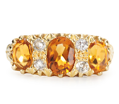 Amber Clouds - Vintage Ctrine Diamond Ring