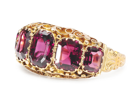 Provocative Antique Almandine Garnet Ring