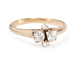 Four of Hearts - Antique Diamond Ring