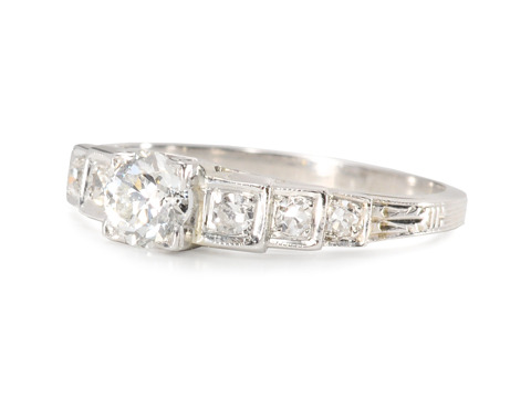 Diamond Extravaganza in an Art Deco Ring