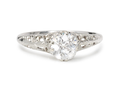 Diamond Drama in a Solitaire Engagement Ring