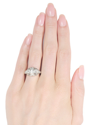 Glitter Bright: Vintage Diamond Platinum Ring