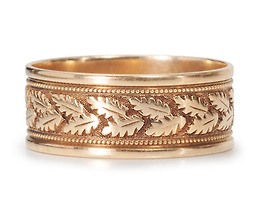 Wide Victorian Rose Gold Band