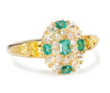 Thoroughly English: Diamond Emerald Ring