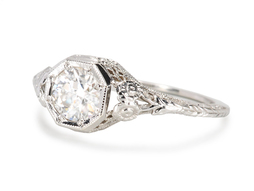 Serenity in a Solitaire Diamond Ring