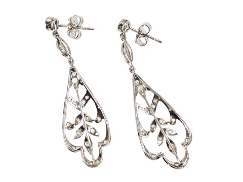 Cool Breeze: Diamond Drop Earrings