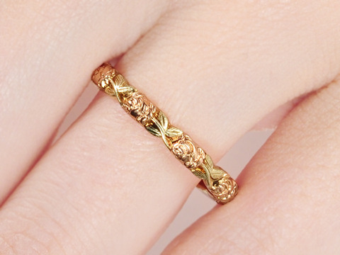 Jabel Rose & Green Gold Eternity Ring