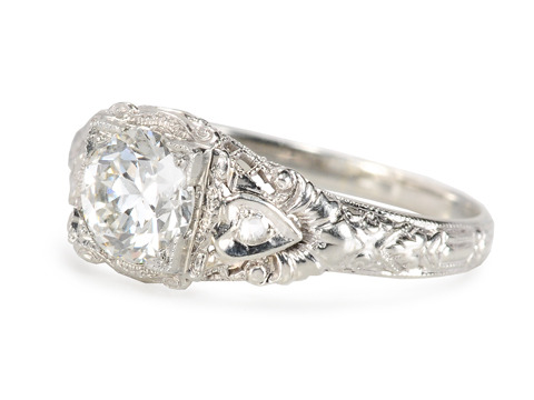 Hearts in Gold: Vintage .92 ct Diamond Ring