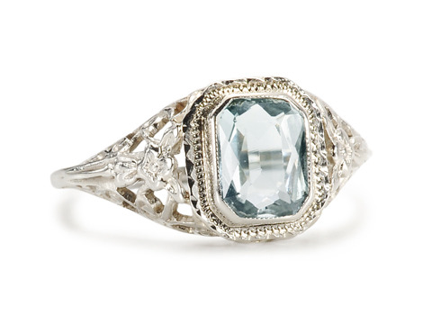 Filigree Flattery in an Aquamarine Ring
