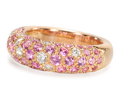 Incomparable: Cartier Pink Sapphire Diamond Ring