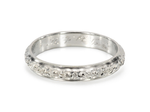Signed Belais Vintage Eternity Ring of 1929