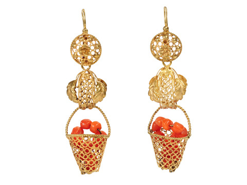Basket Full: Georgian Day Night Earrings