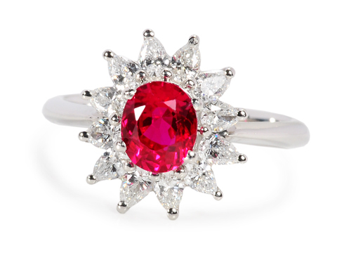 Tiffany Burmese Ruby Diamond Ring