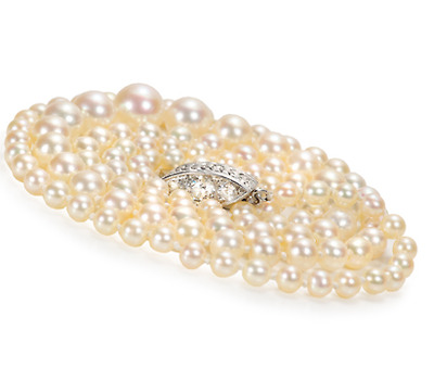 Edwardian Natural Saltwater Pearl Necklace