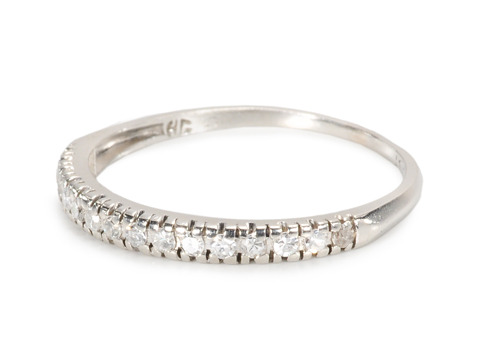 Platinum Half Eternity Band with Diamonds