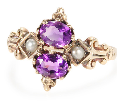 Touch of Fancy: Victorian Amethyst Ring