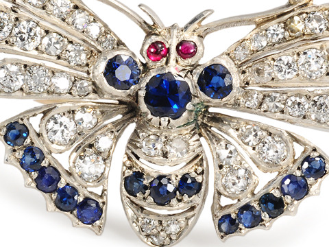 Free Flight: Gem Encrusted Butterfly Brooch