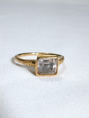 Superb and Rare Rock Crystal Ring