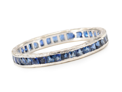 Vintage Sapphire Full Eternity Band