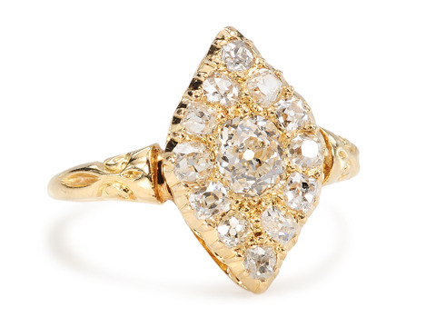 Right on Point: Antique Diamond Ring