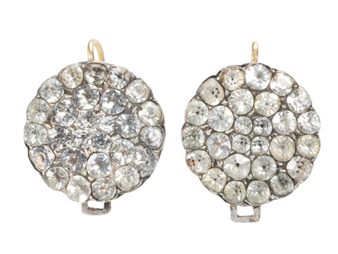 18th C. Day Night Pavé Paste Earrings