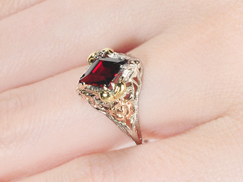 Decidedly Different: Vintage Garnet Ring
