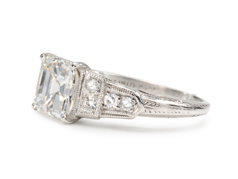 Spectacular 1.51 ct. Asscher Cut Diamond Ring