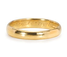 "Poesy Ring ""In thee my choice I do rejoice"""