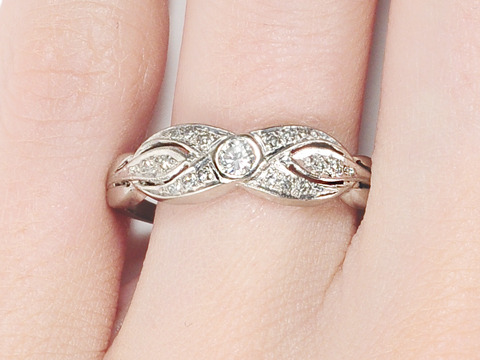 Infinity in Diamonds: Vintage Ring