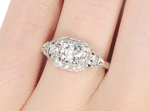 Diamond Dreams in a Vintage Platinum Ring