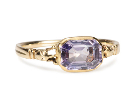 Evocative 18th C. Lilac Sapphire Ring
