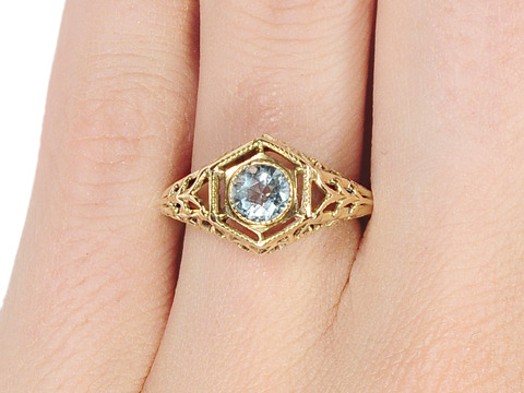 Intrigue in an Aquamarine Ring