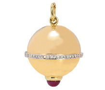 Diamond Ruby Gold Pendant