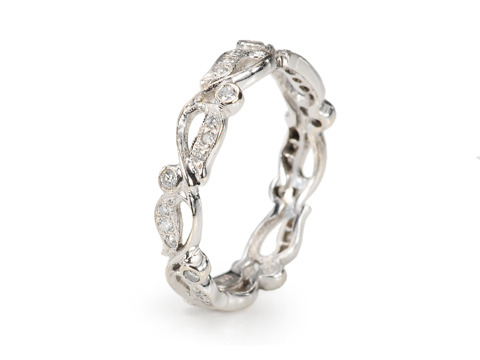 Diamond Set Full Eternity Band
