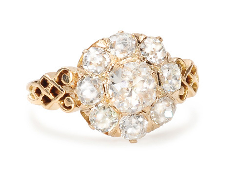 In Bloom: Victorian Diamond Cluster Ring
