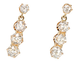 Heavenly Diamond Drop Earrings