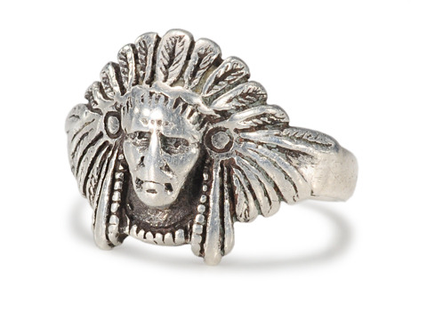 Sterling Native American Motif Ring