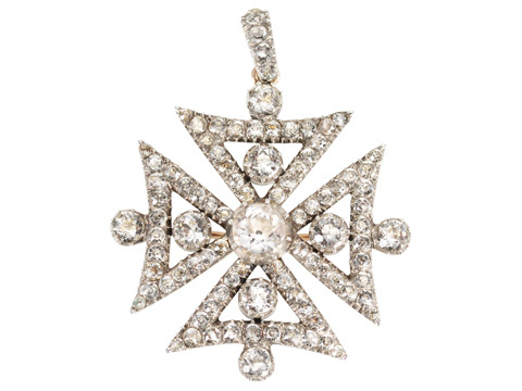 Superb Georgian Maltese Cross Pendant