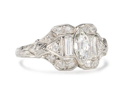 Hint of a Kiss: Vintage Diamond Ring