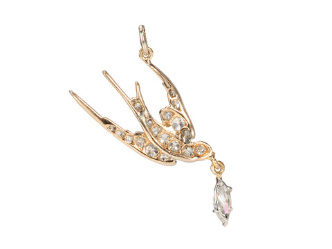 Edwardian Diamond Set Swallow Pendant