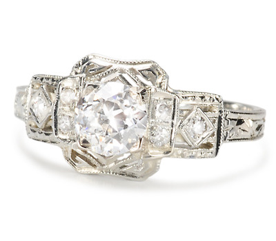 Step This Way: Art Deco Diamond Ring