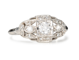 Radiant Sparkle - Hand Made Diamond Ring