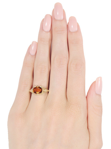 Sizzling Chic: Citrine Ring