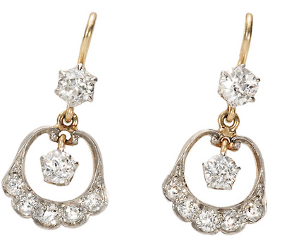 Charming Edwardian Diamond Earrings