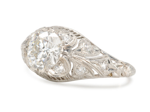 Ravishing Platinum 1.05 ct. Diamond Ring