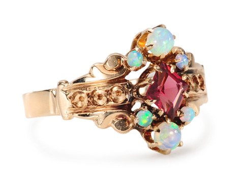 A Christmas Past - Opal Garnet Ring