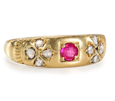 Gypsy Romance: Diamond Ruby Ring