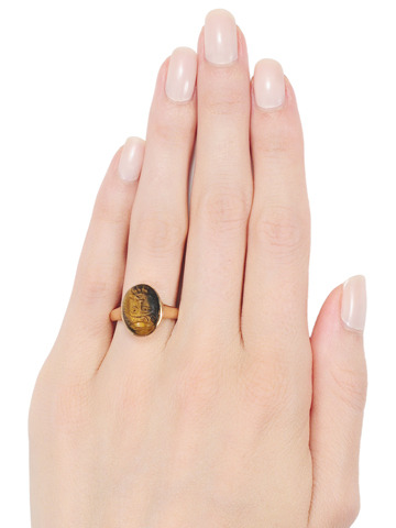 Powerful Tiger's Eye Cameo Ring